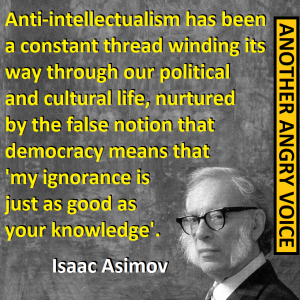 aSIMOV ANTI-INTELLECTUALISM