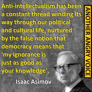 aSIMOV ANTI-INTELLECTUALISM