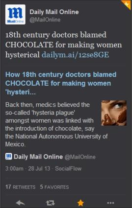 The Daily Mail Should Have Its Brass Neck Examined By A Doctor
