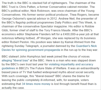 BBC right-Wing bias Guardian Owen jones 17 March 2014
