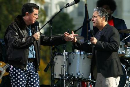 Nobody Does It Better - Stephen Colbert and Jon Stewart The Smartest Funny Guys On Television (Image From NY Daily News)