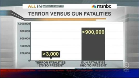 Terror v gun fatalities