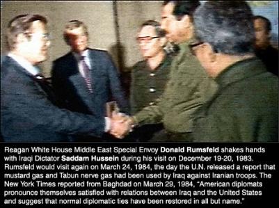 Reagan rumsfeld-saddam