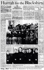 Daily Mail Hurrah for Blackshirts
