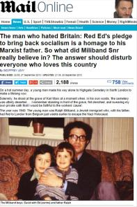 Daily Mail Ralph Miliband Hated Britain