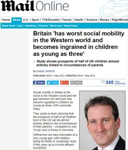 Daily Mail Social Mobility