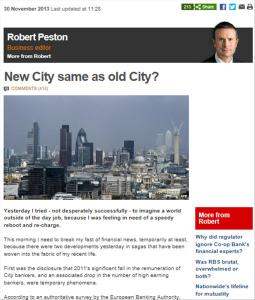 Peston's 30 November web article