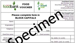 You can't just turn-up for free food at a Trussell Trust food bank