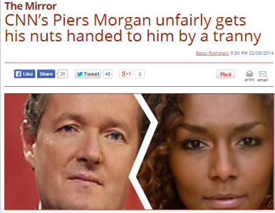 Transphobic Piers Morgan found comfort in the support of some tabloids who voiced their contempt for transsexuals by using hate speech slurs
