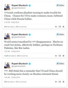 Murdoch MH370 Tweets