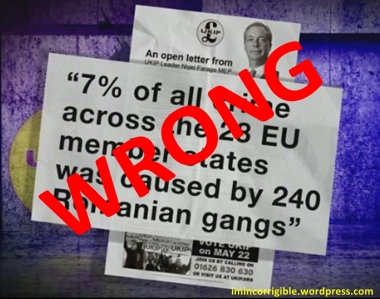 WRONG! None of UKIP's claims about Romanian crime are accurate