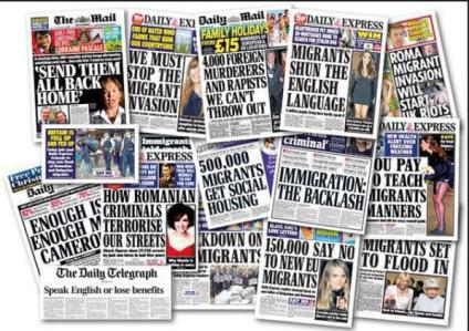 Anti immigration right wing press daily mail