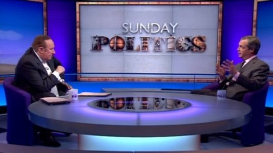 Farage interviewed on BBC's Sunday Politics (again)