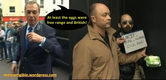 Farage egged-free range and british mod