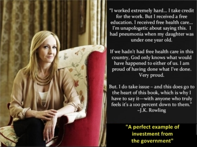 J K Rowling Perfect Example of Government Investment