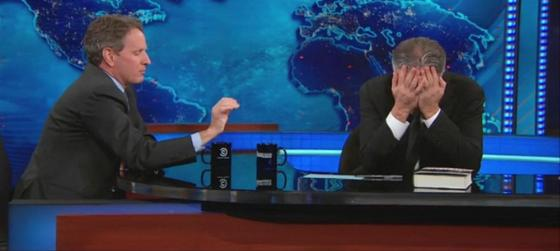 Jon Stewart was exasperated by Tim Geithner's analysis