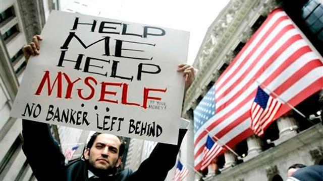No banker was left behind - Image: Occup