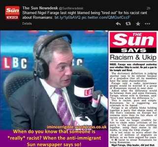 The Sun says...Farage is racist