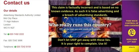 UKIP 75 per cent poster Complain final