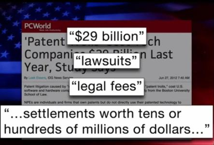 The price of US patent infringement in 2011