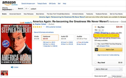 colbert amazon hachette delayed delivery