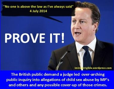 David Cameron prove it