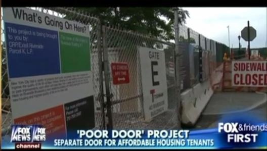 Poor doors in the US