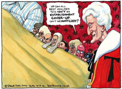 Steve Bell's cartoon about the Sloss Inquiry