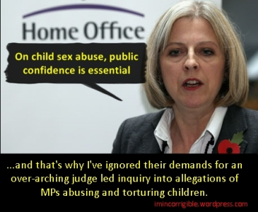 Theresa May home office ignore public confidence