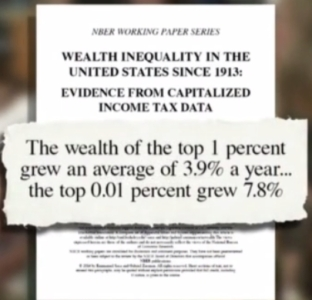 Wealth Inequality top ,o1 percent