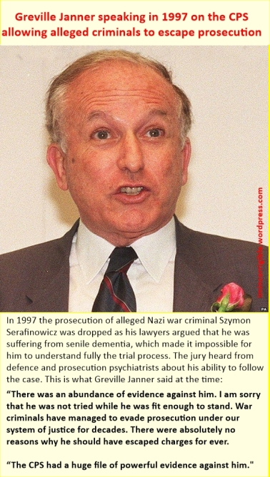 Greville Janner speaks about criminals escaping justice cps