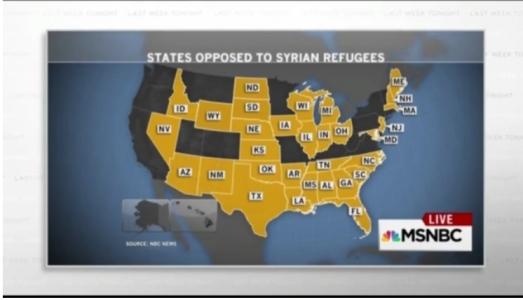 States oppose Syrian refugees