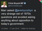 Bryant tweet corbyn marr