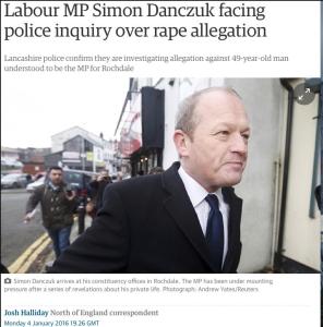 Simon danczuk investigated for rape