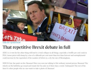 Matt Chorley on Brexit debate