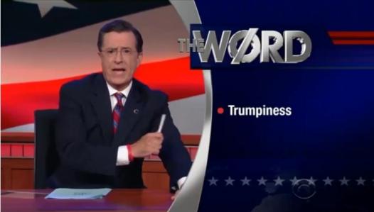 Colbert word Trumpiness