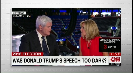 Gingrich tells CNN that feelings are the same as facts