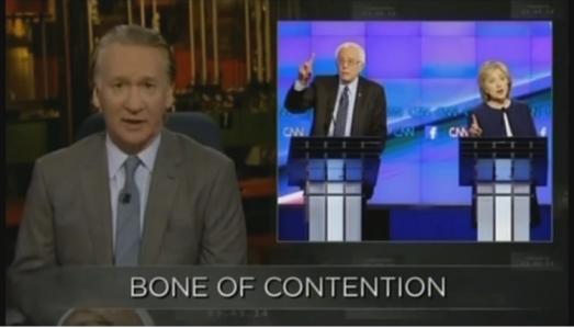 Bill Maher Bernie hillary